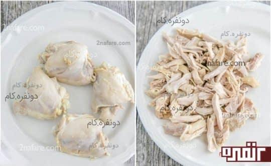 مرغ پخته شده