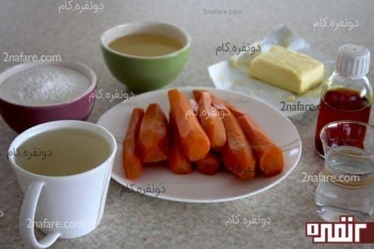 مواد لازم برای تهیه حلوا هویج