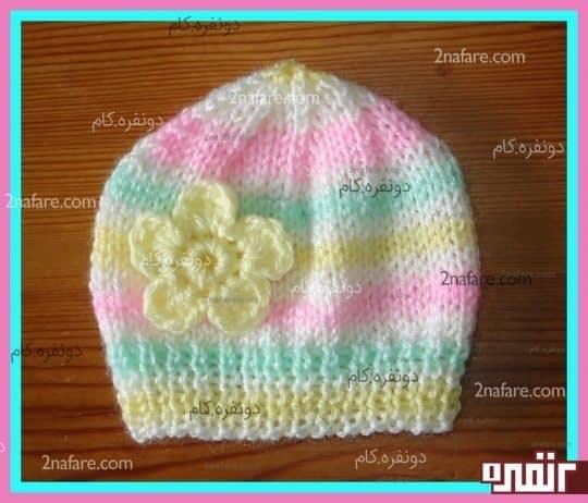 کلاه زیبای بافت دخترانه