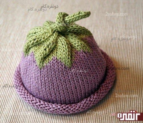کلاه بافت نوزادی میوه ای