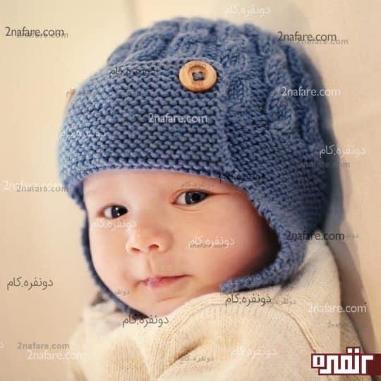 کلاه زیبای پسرانه بافت