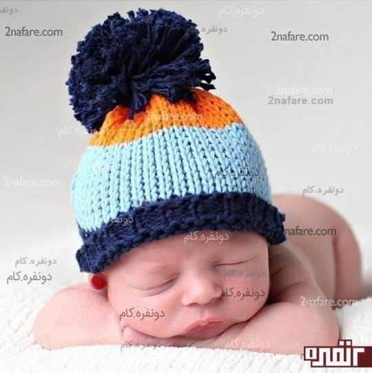 کلاه نوزادی پسرونه
