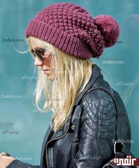 مدل زیبای کلاه بافت