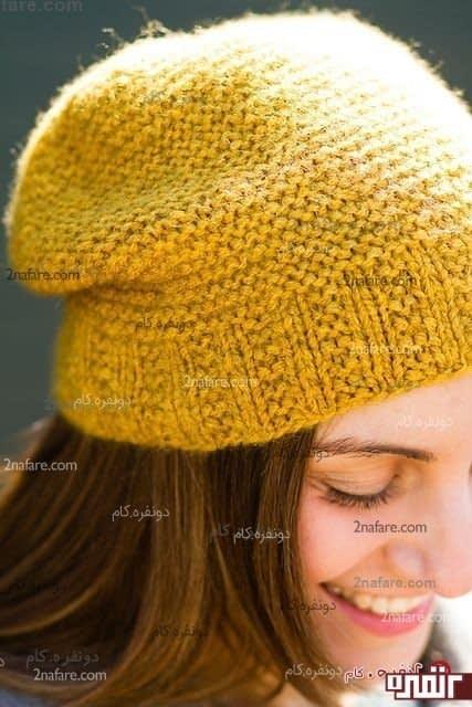 کلاه بافت زنانه زیبا