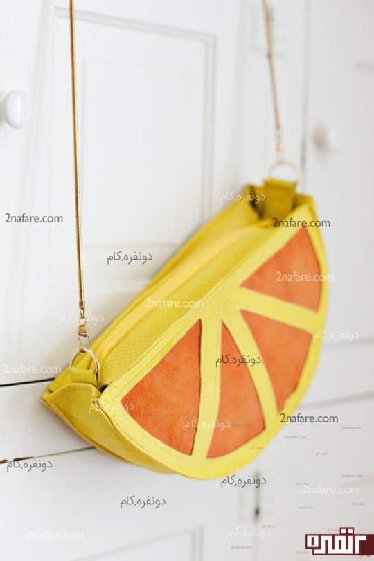 کیف چرمی پرتقال