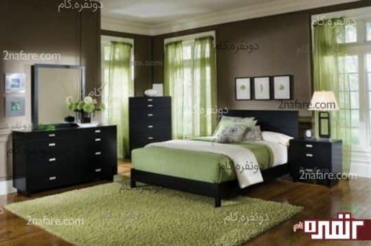 انتخاب رنگ سبز برای اتاق خواب