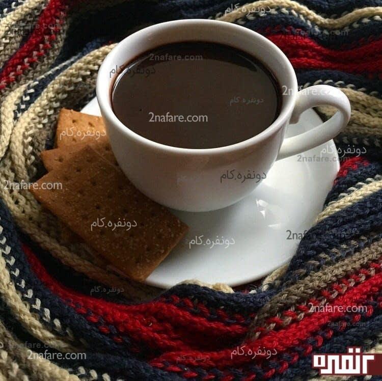 طرز تهیه شکلات داغ یا هات چاکلت • دونفره
