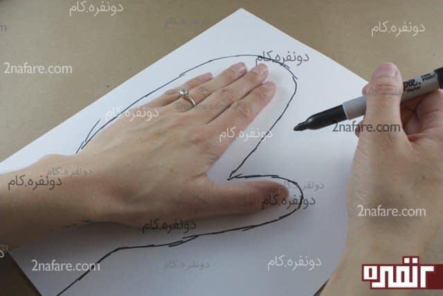 طراحی الگوی دست برای دوخت دستکش