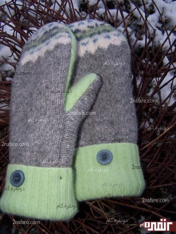 دستکش های گرم از لباس های بافتنی