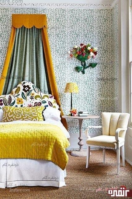 استفاده از رنگ زرد در اتاق خواب