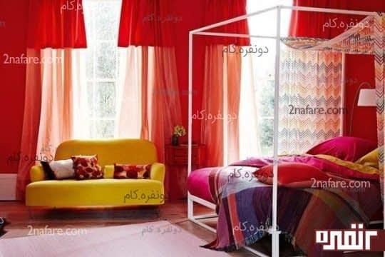 اتاق خواب به رنگ قرمز