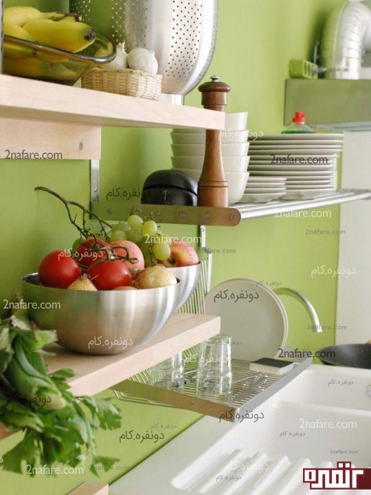 استفاده از شلف ها در آشپزخانه