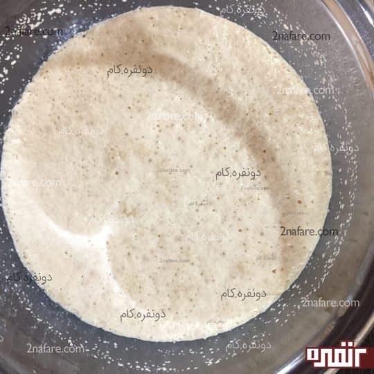 ترکیب شیرولرم ، شکر و خمیر مایه فعال شده