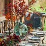 ایده های چیدمان میز پذیرایی در پاییز