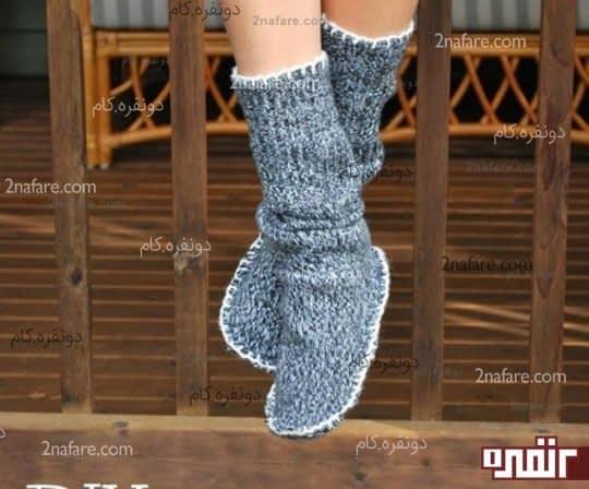 دوختن جوراب از لباس های بافتنی