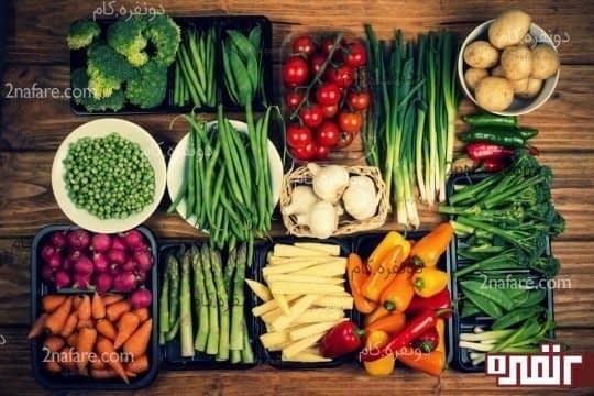 اضافه کردن سبزیجات به وعده های غذایی