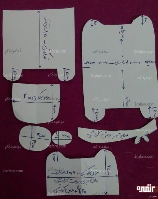 الگوهای کیف از هرکدام یک عدد