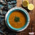 طرز تهیه سوپ جو و نودل مرحله به مرحله