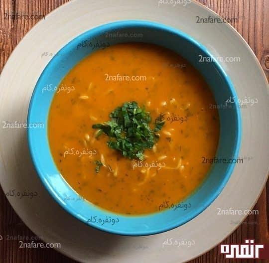 سوپ جو و نودل