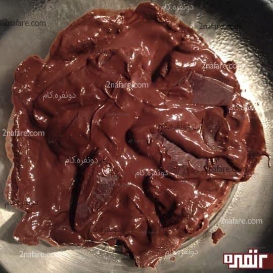 آب کردن شکلات به روش بن ماری