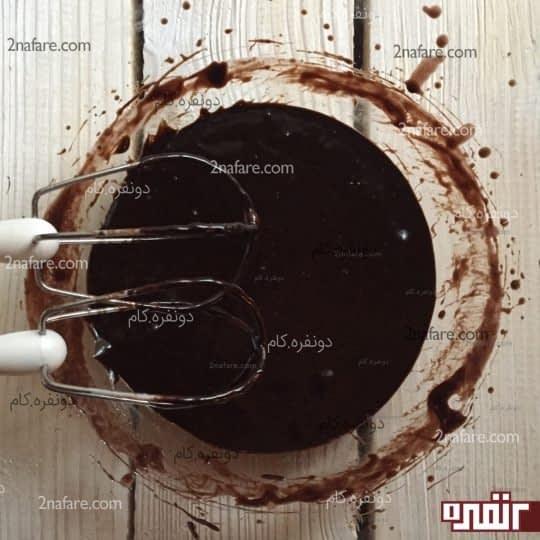آماده شدن سس شکلات