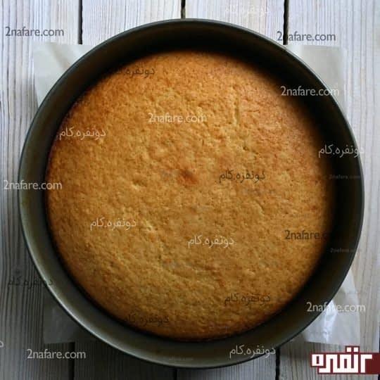 کیک پخته شده