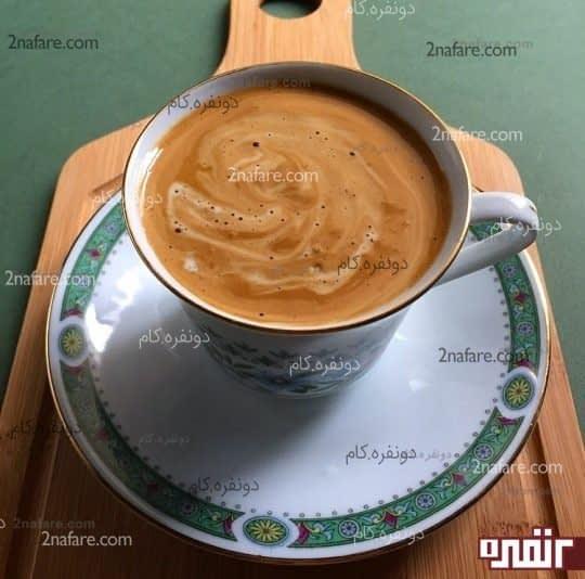 قهوه فوری غلیظ و خامه ای