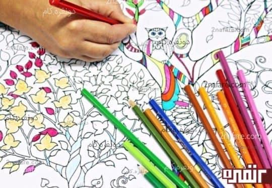 رنگ آمیزی و کاهش استرس