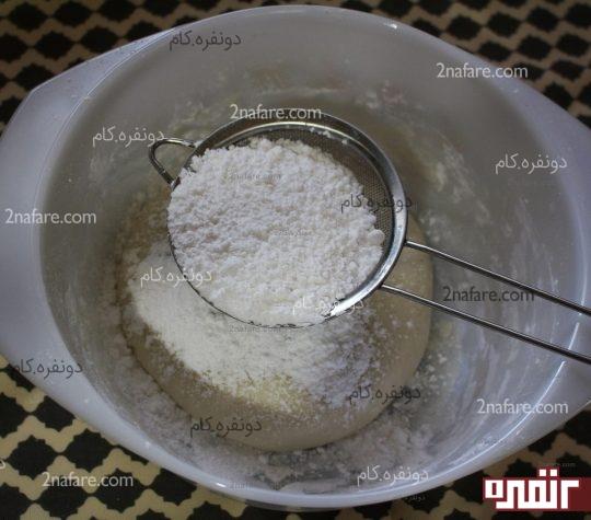 اضافه کردن پودر شکر مجدد در صورت نیاز