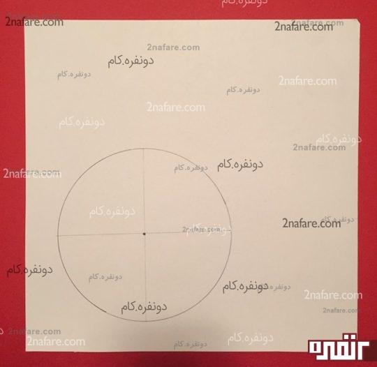 رسم دایره به کمک سی دی