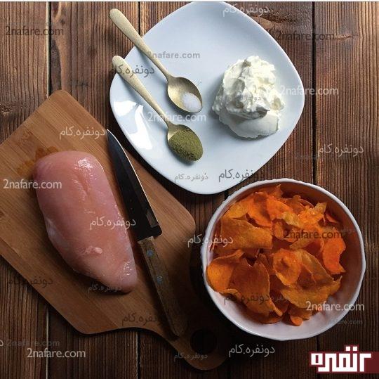 مواد لازم برای مرغ سوخاری در فر