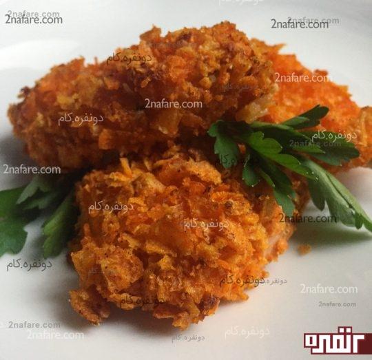 مرغ سوخاری بدون روغن در فر