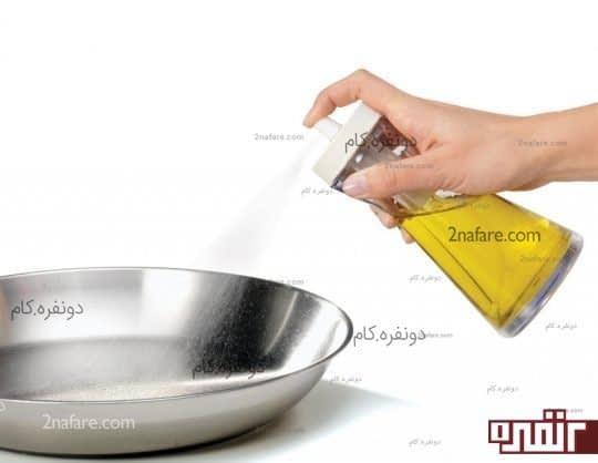 کاهش مصرف روغن و نمک