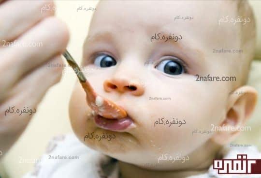 شروع غذای کمکی و قطع شیر شب نوزاد