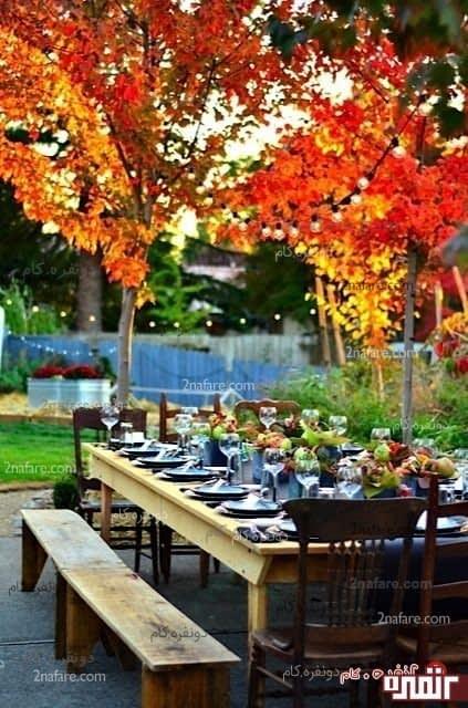 ایده های پاییزی برای طراحی میز
