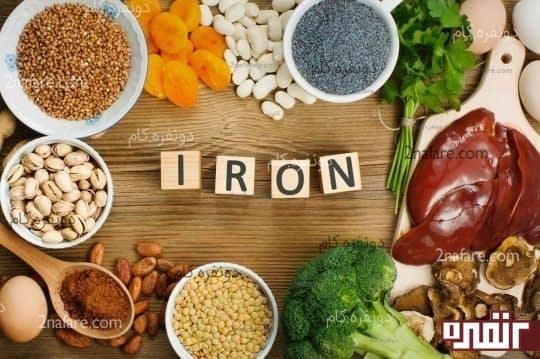 مواد غذایی سرشار از آهن و جلوگیری از ریزش مو