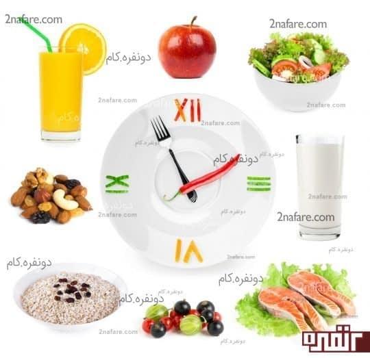 مصرف وعده های غذایی کم