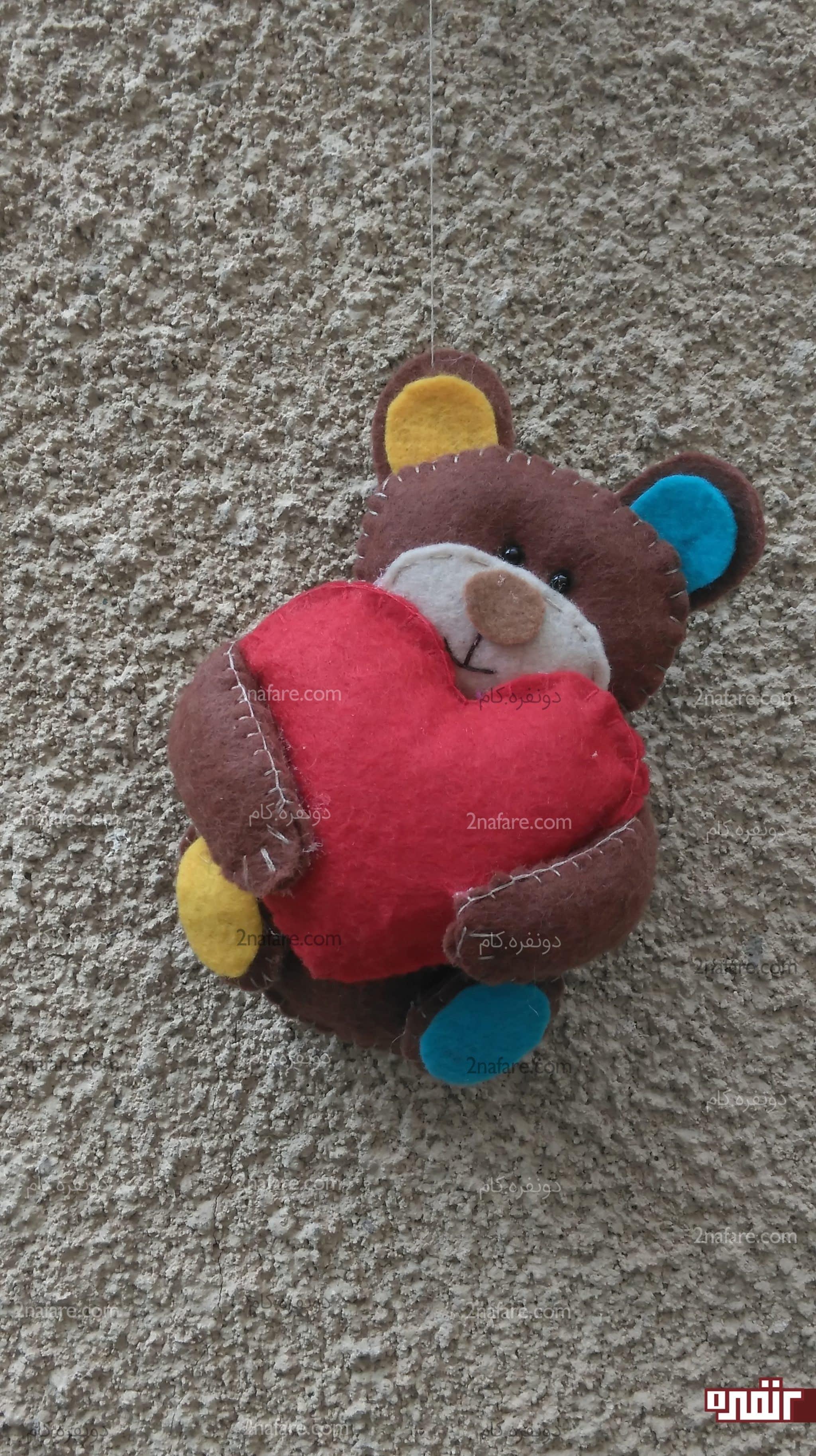 تم خرس عروسک نمدی آموزش ساخت مگنت عروسک خرس نمدی • دونفره