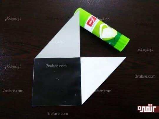 چسباندن کاغذ مشکی