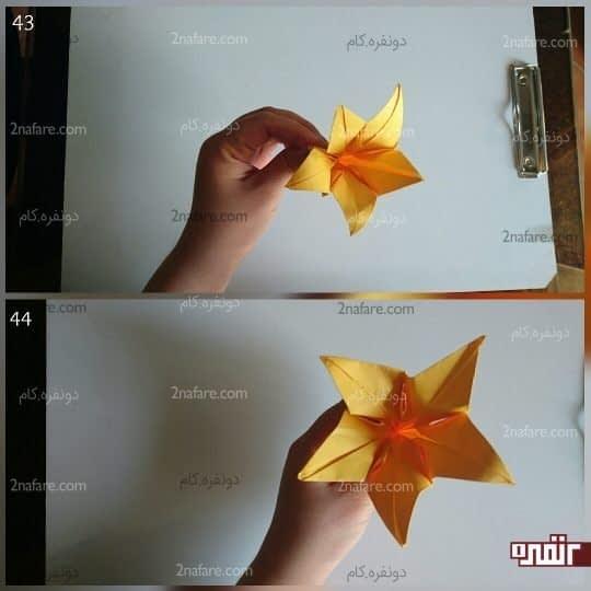 گل های اوریگامی