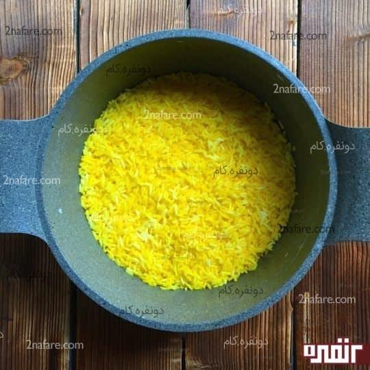 لایه دوم، برنج زعفرونی