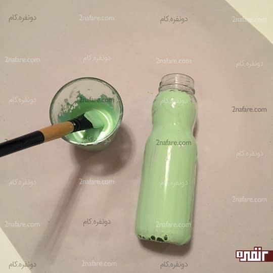 رنگ کردن گلدان