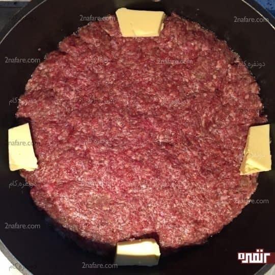 پهن کردن گوشت