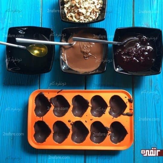 انتخاب طعم های دلخواه برای مغز شکلات