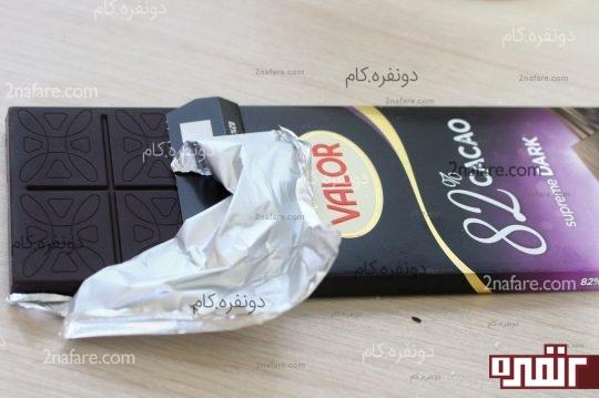 استفاده از شکلات مرغوب برای کاور توپک ها