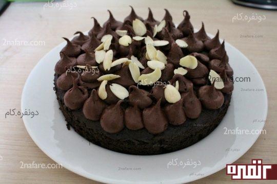 فیلینگ میانی کیک با گاناش شکلاتی