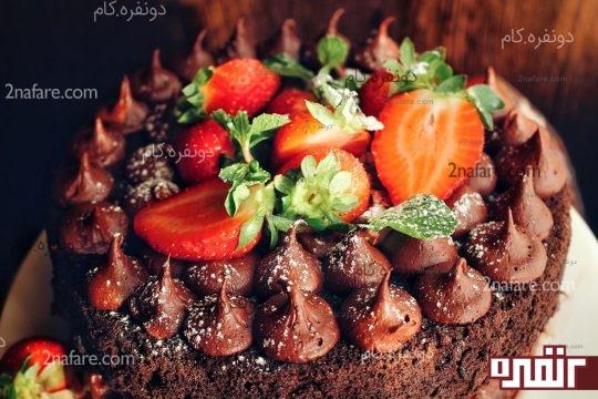 کرم کیک شکلاتی
