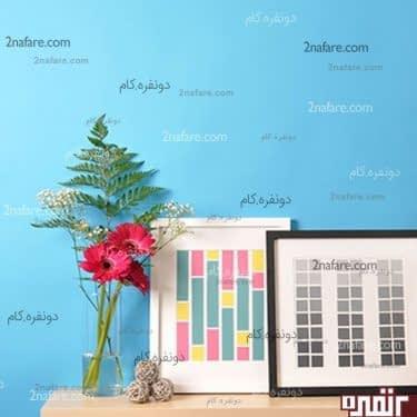 تابلوی مستطیل های رنگارنگ کاغذی