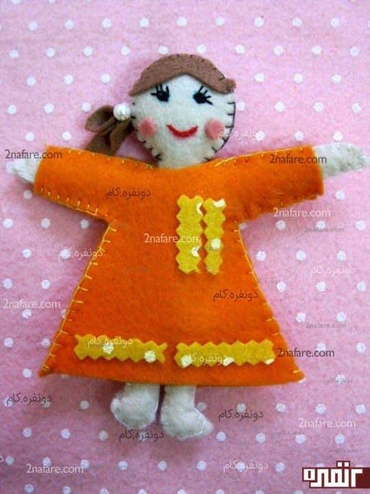 لباس عروسک نمدی