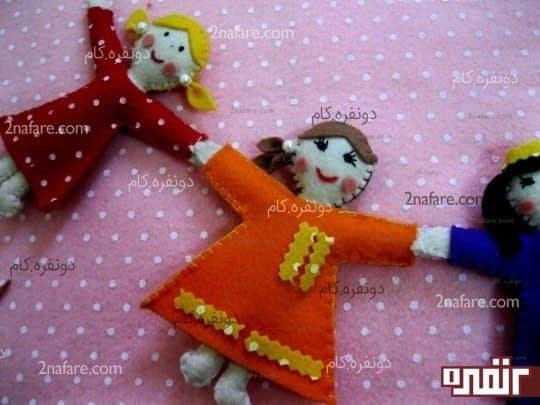 آویز عروسک نمدی